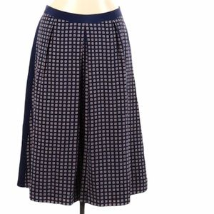 Madewell Casual Patterned Pleated Skirt